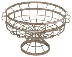 Lovers of antiques will simply adore this elegant Metal Plant Stand. Classic in design with stylish and sturdy workmanship and quality, this metal planter will grace your outdoors with its elegant curves and beautiful metal grid design. Whether a traditional or industrial decor scheme, this metal planter will be the center of attraction wherever you decide to place it.