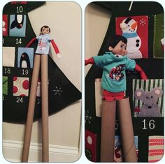 Practicing for the elf circus. From tricia_flinn.