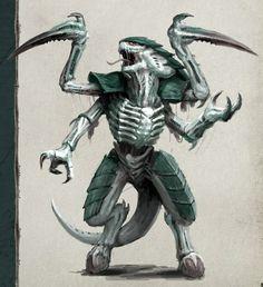 Yuuzhan vong hive tyrant starfinder in 2019 монстров, демоны Character Concept, Character Art, Concept Art, Monster Design, Monster Art, Alien Creatures, Fantasy Creatures, Aliens, Warhammer 40k Tyranids