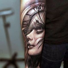new school black and white tattoos - Google Search