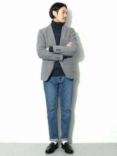 秋・冬コーデの参考に。おしゃれなジャケパンスタイルスナップ Gentleman Mode, Gentleman Style, Business Fashion, Estilo Jeans, Drawing Clothes, Denim Fashion, Wardrobes, Casual, What To Wear