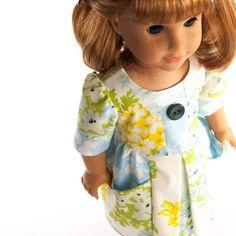 American Girl doll clothes pleated pocket dress modern by PattiKuz, $25.00