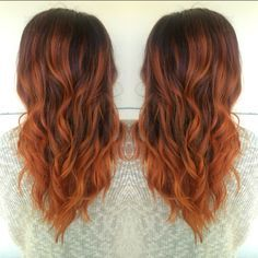 Image result for copper balayage