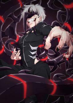 Kaneki Ken, white hair, ghoul, mask, kakuja, centipede; Tokyo Ghoul
