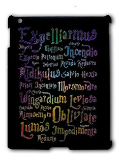 Harry Potter Spell Black Cover iPad 2 3 4, iPad Mini 1 2 3 , iPad Air 1 2