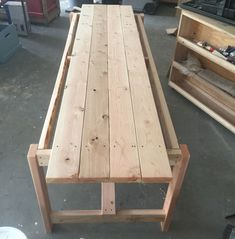 Beginner Farm Table (2 Tools + $50 Lumber) | Ana White Wooden Table Diy, Diy Outdoor Table, Diy Dining Table, Diy Patio, Patio Table, Outdoor Harvest Table, Rustic Table, Picnic Table, Dining Room