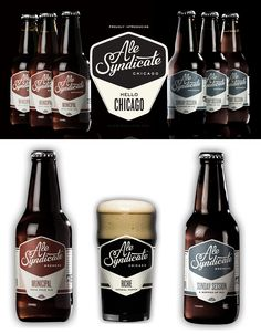 Ale Syndicate Beer Branding and Bottle Designs
