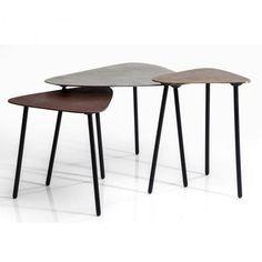 Konferenční stolek Loft Triangle Vingate - set 3 ks