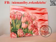 Red & white tulip decoupage binder by NieNaNiby