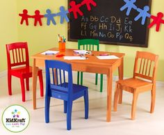 KidKraft Euro Honey Table and 4 Chairs >>> See this great product.