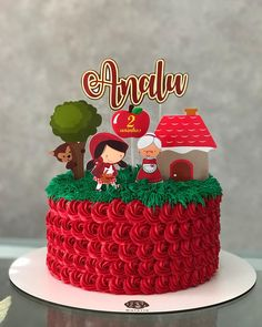 Tema mais lindo ❤️ Top Easter Chocolate, Chocolate Cake, Zoo Cake, Red Riding Hood Party, Simple Cake Designs, Chocolates, Girl Cakes, Birthday Cake Toppers, Themed Cakes
