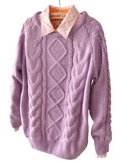 Pretty O-Neck Full Sleeve Knitted Oversized Women Pullover Sweater on buytrends.com