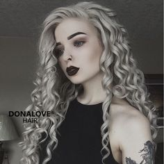 gray waist length curly synthetic wig http://www.donalovehair.com/277-gray-waist-length-curly-synthetic-lace-wig-sny068.html?Pin=010