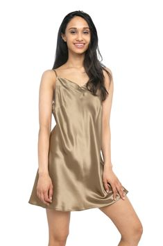 MYK Mulberry Silk Slip Dress, Luxury Chemise Nightgown with Adjustable Spaghetti Strap for Women, Gift Boxed Silk Sleepwear, Sleepwear Women, Silk Chemise, Nightgowns For Women, Silk Slip, Mulberry Silk, Summer Essentials, Night Gown, Pure Products