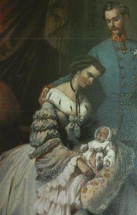 Das Kaiserpaar mit dem Töchterchen Sophie