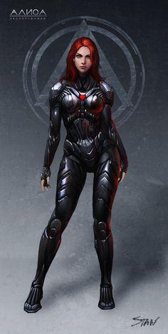Fantasy Girl, Chica Fantasy, Fantasy Women, Female Cyborg, Female Armor, Female Character Design, Character Art, Character Concept, Science Fiction