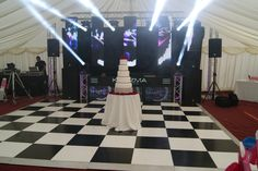 DJ Wedding, Asian Wedding, Lighting, Led Screen, Black/White Dance Floor / DJ Booth