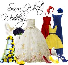 """Snow White Wedding"" by nightwatchman54 ❤ liked on Polyvore"