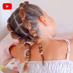Toddler Hair Dos, Easy Toddler Hairstyles, Easy Little Girl Hairstyles, Cute Girls Hairstyles, Summer Hairstyles, Short Hairstyles For Kids, Kids School Hairstyles, Short Hair For Kids, Braids For Short Hair