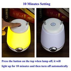Amazon.com: Table Lamp, iThird LED Night Lights with 10 Minutes Timing Dimmable Yellow Light & Color Changing RGB Lighting Lamp for Bedroom Living Room Office: Home & Kitchen