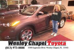 https://flic.kr/p/Rd8nkn | Happy Anniversary to Dorothy on your #Toyota #Highlander from Patrick Sawyer at Wesley Chapel Toyota! | deliverymaxx.com/DealerReviews.aspx?DealerCode=NHPF