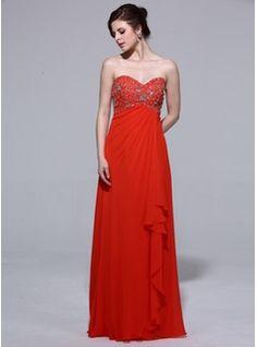 Evening Dresses - $155.99 - Empire Sweetheart Floor-Length Chiffon Evening Dress With Beading Cascading Ruffles  http://www.dressfirst.com/Empire-Sweetheart-Floor-Length-Chiffon-Evening-Dress-With-Beading-Cascading-Ruffles-017039962-g39962