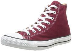 Converse Chuck Taylor Hi, Sneaker unisex adulto, Rosso (Bordeaux), 37: Amazon.it: Scarpe e borse