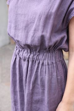 Linen dress with elastic waist and pockets Casual linen dress for summer Women linen clothes – Linen Dresses Formal Pants Women, Pants For Women, Womens Linen Clothing, Gypsy Clothing, Wedding Dress With Pockets, Skirts With Pockets, Dress Pockets, Princess Outfits, Linen Tunic