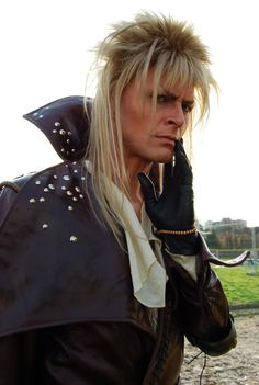 Jareth cosplay from Labyrinth ~Sandman-AC  Another picture of Massimiliano Poggi as Jareth from Labyrinth.