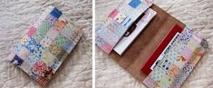 2018/01/24 Faux Vintage Quilt on Leather Business Card Holder | Cathe Holden's Inspired Barn