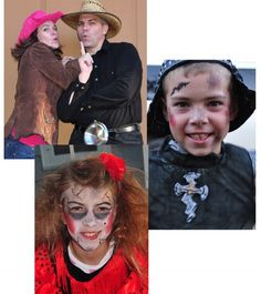 Family ideas for costumes from goodncrazy.com Carissa Rogers, Couple Costume Cowboy and Cowgirl complete with the LARGEST buckle you can find (made out of a pot lid!). And a zobie Flamenco Dancer and a war ravaged Knight.