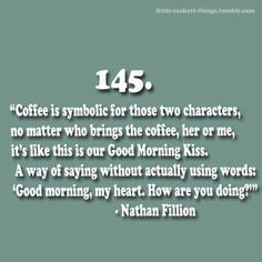 Nathan Fillon and Coffee Best Tv Shows, Best Shows Ever, Favorite Tv Shows, Movies And Tv Shows, Nerd Love, My Love, Nathan Fillon, Castle Quotes, Good Morning Kisses