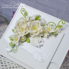 Card Envelopes, Flower Cards, Cute Cards, Pretty Flowers, Wedding Cards, Card Ideas, Crafting, Scrapbooking, Easter