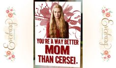 Funny Mother's Day Game of Thrones Card, Cersei Lannister card for Mother on Etsy, $3.50