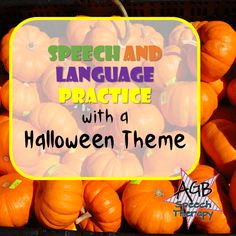 Speech and Language Practice with a Halloween Theme