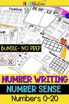 Are you working on numbers and number sense with your little ones? Check out this time-saving NO PREP Number BUNDLE (numbers 0-20)! EVERYTHING you need is in this bundle related to numbers from 0 to 20 including number identification, counting, number formation, number recognition and so much more. This is a must-have for your Pre-K, kindergarten, or 1st grade classroom.