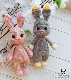 Easter Bunny Crochet Pattern, Crochet Rabbit, Crochet Animal Patterns, Crochet Doll Pattern, Crochet Patterns Amigurumi, Crochet Dolls, Crocheted Toys, Handmade Toys, Handmade Crafts