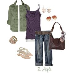 Plum and Olive, created by sapple324 on Polyvore