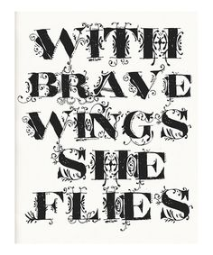 Another great find on #zulily! White 'Brave Wings' Print #zulilyfinds