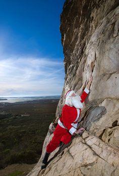 Obviously Santa does more than down-climbing chimneys!