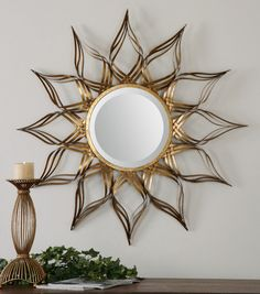 Uttermost Adelphi Sunburst Mirror #home #decor #wall #mirror #vanity