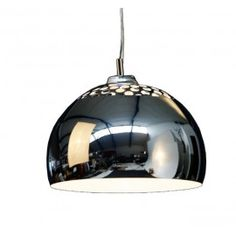 Retro Design Hanglamp Halve Chroom Bol