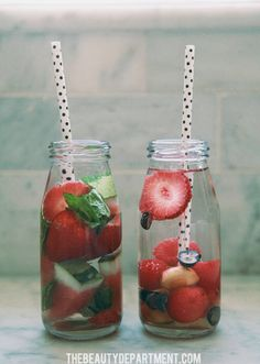 fruit infused water ideas 1 and 2