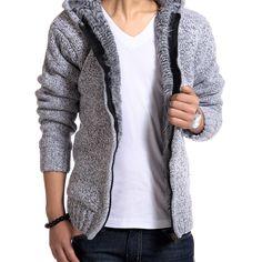 2016 Autunm Winter Fur Lining Thicken Hoodies Men Casual Zipper Solid Warm Moleton Masculino MZM179