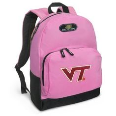 Virginia Tech Backpack Pink Hokies for Travel, Daypack CUTE School Bags Best Unique Cute Gifts for Girls, Students Ladies - (Apparel)  http://www.99homedecors.com/decors.php?p=B004BOJX72  B004BOJX72