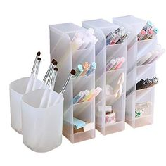 Work Desk Organization, Desk Organizer Set, Stationary Organization, Pencil Organizer, School Supplies Organization, Pencil Holder, Bathroom Organization, Pen Storage, Ikea Craft Storage