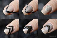 Kot Baun – Anna Gorelova by Dance Legend + Mixtape Crystalised by Gi Milanetto – Penélope Luz Chevron Nails, Dance Legend, Nailart, Cute Nail Designs, Easy Nail Art, Pattern Art, Mixtape, Nail Polish, Nail Nail