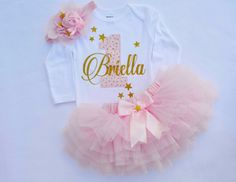 Baby Girl 1st Birthday Outfit,First birthday outfit girl,1st birthday girl outfit in Pink Gold,Smash cake outfit girl,twinkle twinkle star