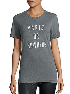Knowlita Paris Or Nowhere Heathered Graphic Tee