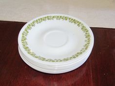 Set of 8 Vintage Corelle Spring Blossom Saucers by NonisVintageDelights on Etsy, $10.00